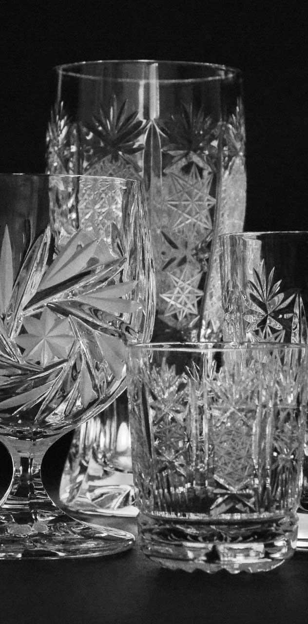 vetri vintage per allestimento open bar personalizzato